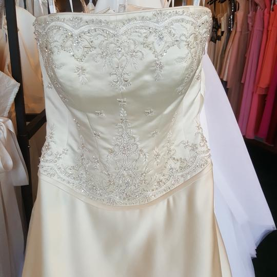 Private Label by G Light Gold Satin 1227 Traditional Wedding Dress Size 10 (M) Image 1