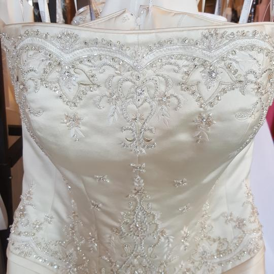 Private Label by G Light Gold Satin 1227 Traditional Wedding Dress Size 10 (M) Image 3