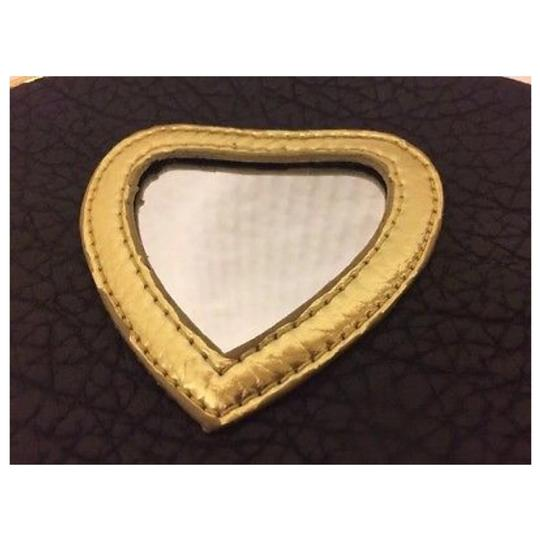 JUICY COUTURE Brown & Gold Clutch Image 2