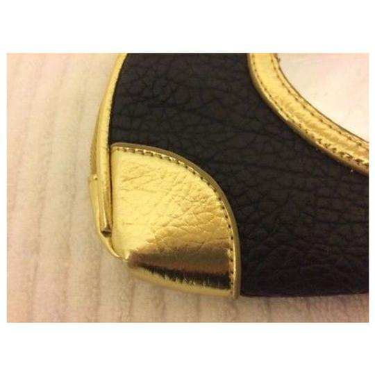 JUICY COUTURE Brown & Gold Clutch Image 4