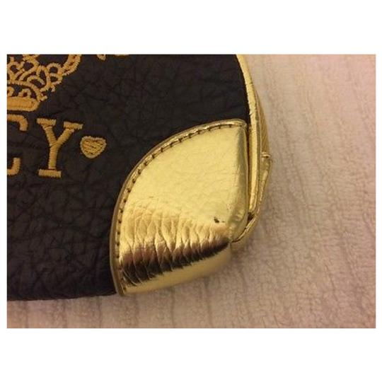 JUICY COUTURE Brown & Gold Clutch Image 7