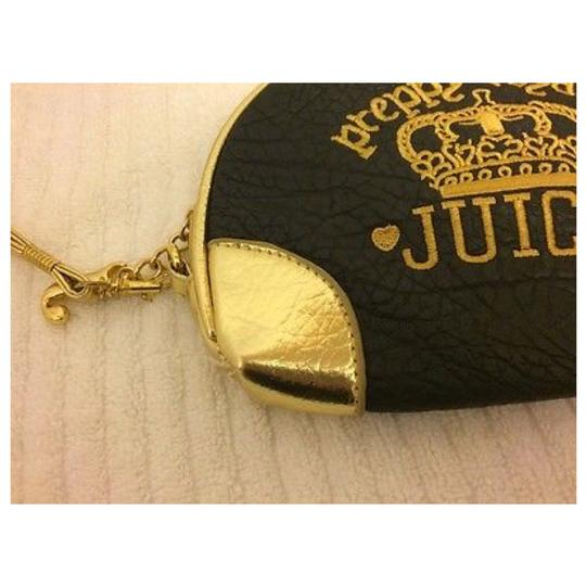 JUICY COUTURE Brown & Gold Clutch Image 8