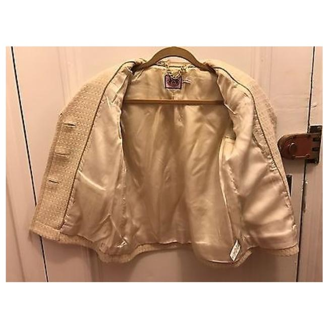 JUICY COUTURE Off White Ivory Blazer Image 6