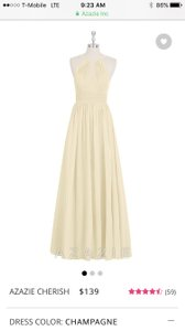 Azazie Champagne Cherish Dress