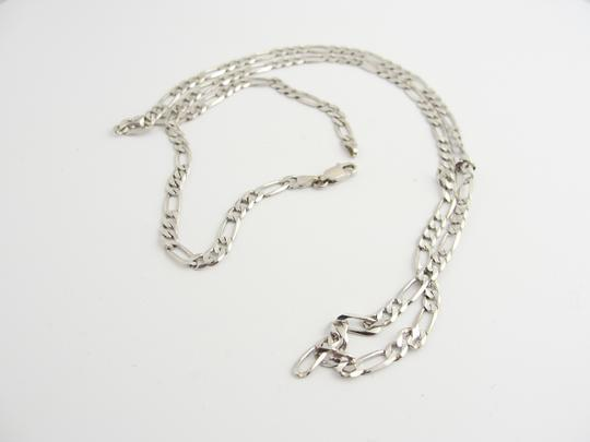 Other 3mm Figaro Chain in 14k White Gold Image 1