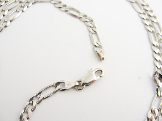 Other 3mm Figaro Chain in 14k White Gold Image 2