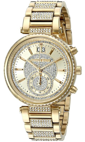 Preload https://img-static.tradesy.com/item/21641258/michael-kors-gold-crystals-2-in-1-collection-sawyer-goldtone-stainless-steel-watch-0-1-540-540.jpg