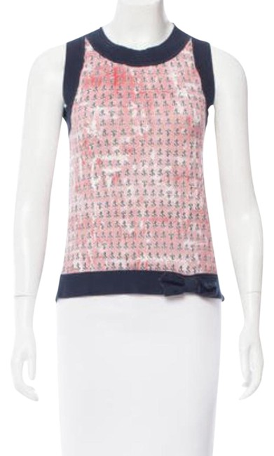 Preload https://img-static.tradesy.com/item/21641603/red-valentino-printed-sleeveless-tee-shirt-size-4-s-0-1-650-650.jpg