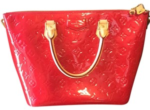 Louis Vuitton Satchel in red with gold hardware