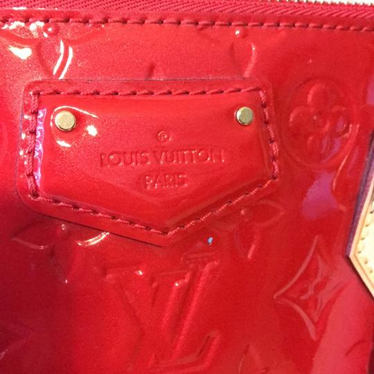 Louis Vuitton Satchel in red with gold hardware Image 2