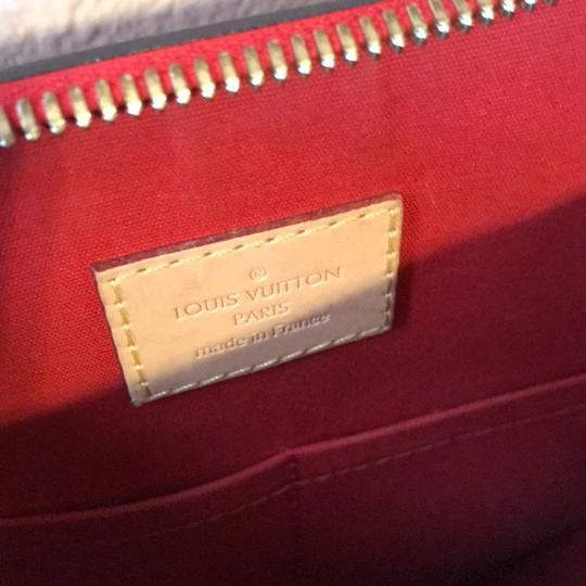 Louis Vuitton Satchel in red with gold hardware Image 3