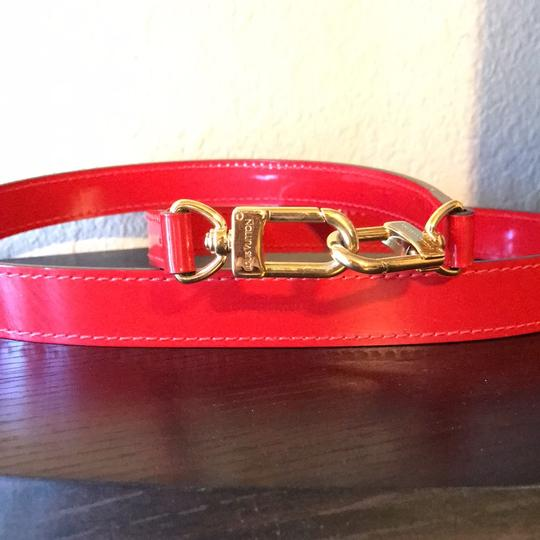 Louis Vuitton Satchel in red with gold hardware Image 4