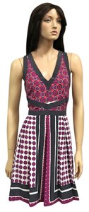 Madison Marcus Print Bold V-neck Dress