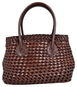 Fossil Leather Bags Braided Leather Bags Bags Mini Bags Small Bags Satchel in Medium Brown