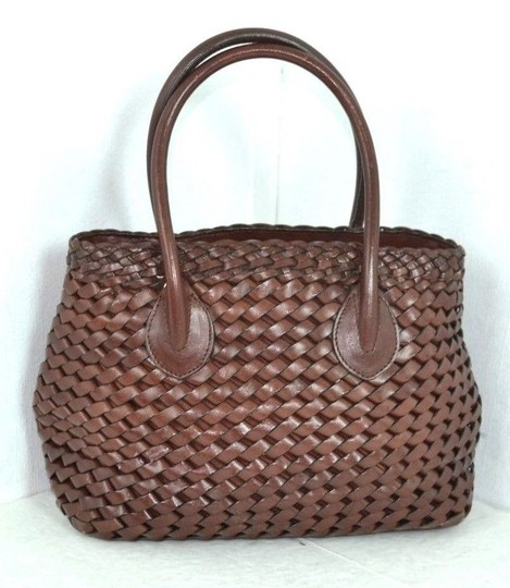 Fossil Leather Bags Braided Leather Bags Bags Mini Bags Small Bags Satchel in Medium Brown Image 1