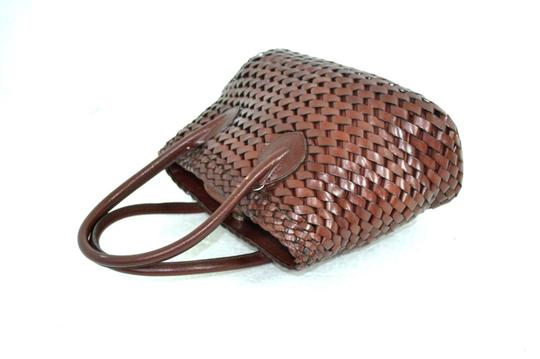 Fossil Leather Bags Braided Leather Bags Bags Mini Bags Small Bags Satchel in Medium Brown Image 2