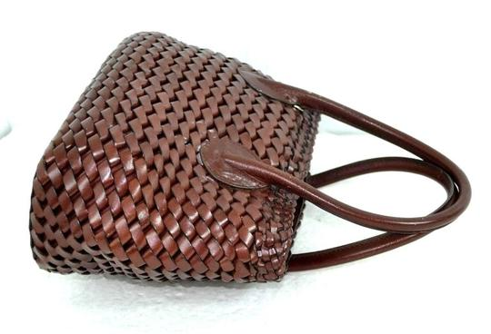 Fossil Leather Bags Braided Leather Bags Bags Mini Bags Small Bags Satchel in Medium Brown Image 3