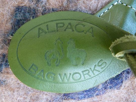 Alpaca Bag Works Hand-crafted Week-ender Travel Overnight Tote in Multi- with green backside Image 1