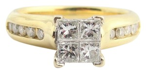 Other Quad Princess-Cut Diamond Vintage-Style Bridal in 14k Yellow Gold