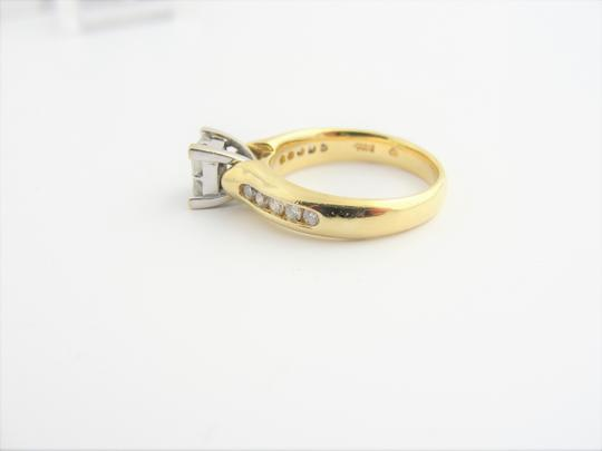 Other Quad Princess-Cut Diamond Vintage-Style Bridal in 14k Yellow Gold Image 1