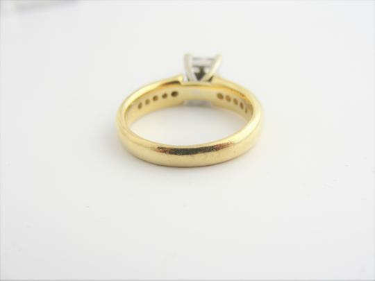Other Quad Princess-Cut Diamond Vintage-Style Bridal in 14k Yellow Gold Image 2