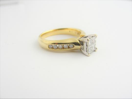 Other Quad Princess-Cut Diamond Vintage-Style Bridal in 14k Yellow Gold Image 3