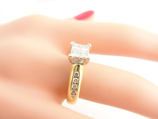 Other Quad Princess-Cut Diamond Vintage-Style Bridal in 14k Yellow Gold Image 4