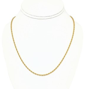 DeWitt's 14k Rolled Gold Plate Sterling Silver Rope Necklace