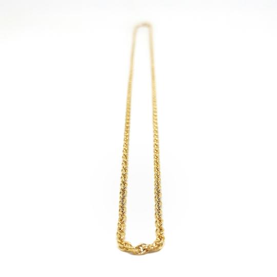 DeWitt's 14k Rolled Gold Plate Sterling Silver Rope Necklace Image 2