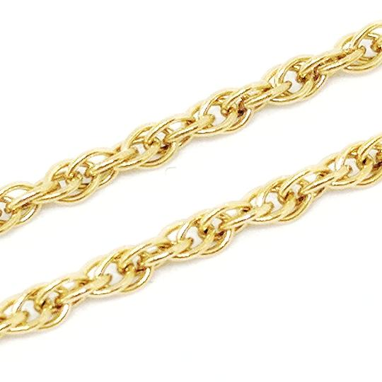 DeWitt's 14k Rolled Gold Plate Sterling Silver Rope Necklace Image 3