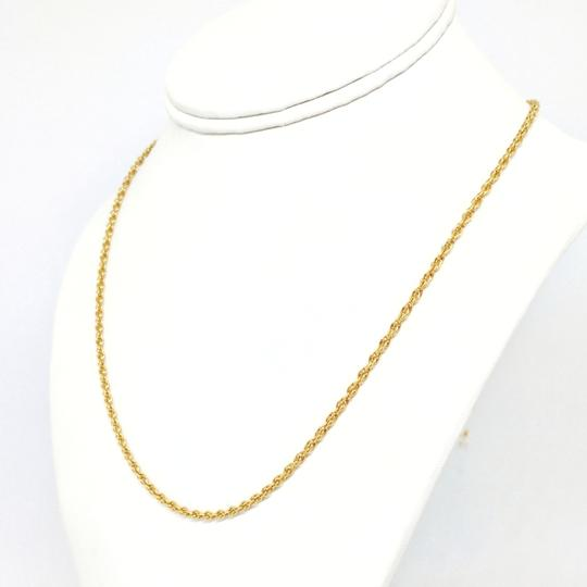 DeWitt's 14k Rolled Gold Plate Sterling Silver Rope Necklace Image 4