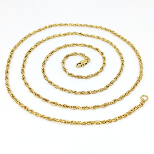 DeWitt's 14k Rolled Gold Plate Sterling Silver Rope Necklace Image 7