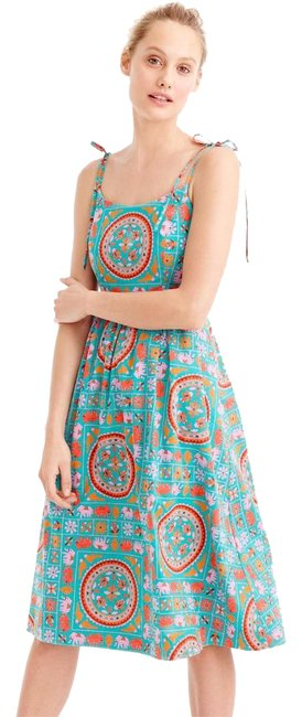 Preload https://img-static.tradesy.com/item/21642302/jcrew-multicolor-drake-s-tie-shoulder-in-tiled-elephant-print-0-mid-length-short-casual-dress-size-0-0-1-650-650.jpg