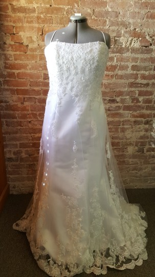 Alfred Angelo White 1816w Destination Wedding Dress Size 18 (XL, Plus 0x) Image 1