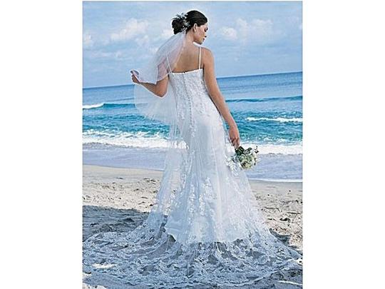 Alfred Angelo White 1816w Destination Wedding Dress Size 18 (XL, Plus 0x) Image 2