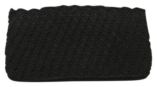 Vintage Crochet Sophisticated Casual Evening Classic black, white Clutch Image 1