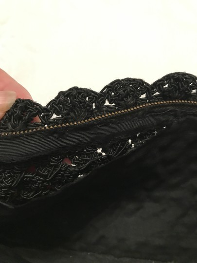 Vintage Crochet Sophisticated Casual Evening Classic black, white Clutch Image 3