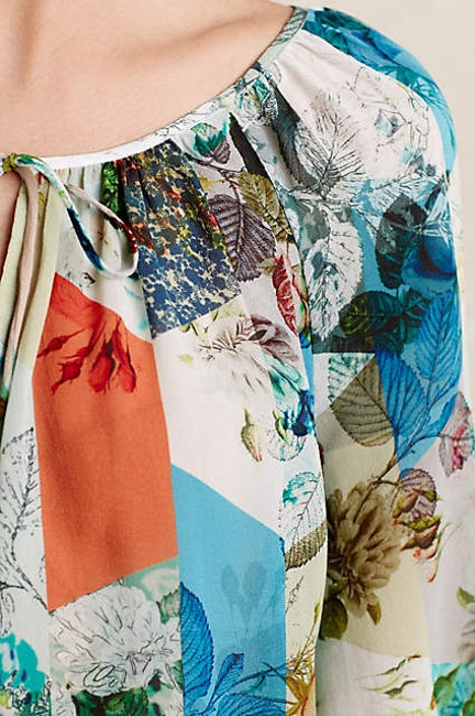 Anthropologie Catappa Peasant Silk By Top Image 1