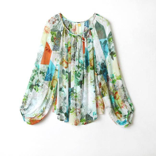 Anthropologie Catappa Peasant Silk By Top Image 2