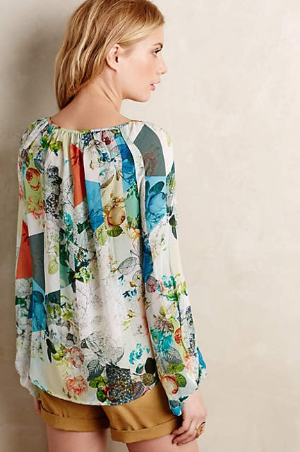 Anthropologie Catappa Peasant Silk By Top Image 3