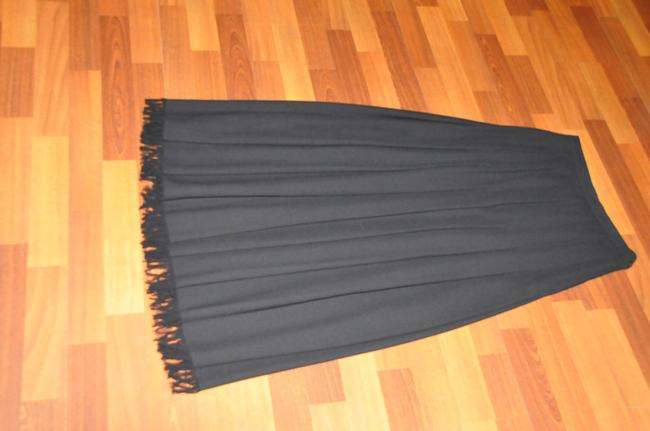 Dana Buchman Wool Pleated Maxi Skirt Black Image 1