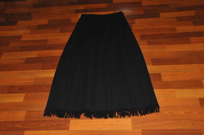 Dana Buchman Wool Pleated Maxi Skirt Black Image 2