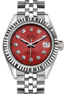 Rolex Ladies 26mm Rolex Datejust with Diamond Salmon Dial