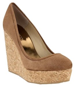 Jimmy Choo Ships Same Day New Suede Brown Wedges