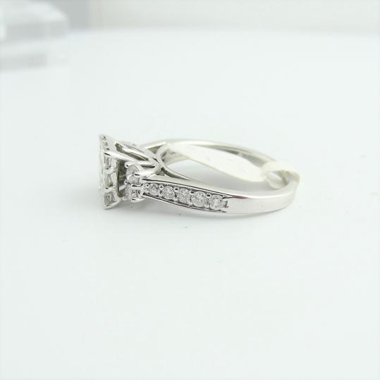 Other Cluster Princess Cut Engagement Ring- 14k White Gold Image 2