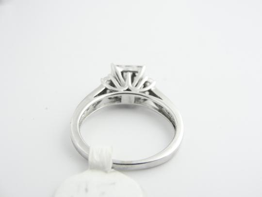 Other Cluster Princess Cut Engagement Ring- 14k White Gold Image 3