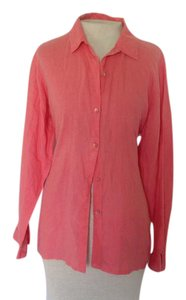 Eileen Fisher Button Down Shirt Coral