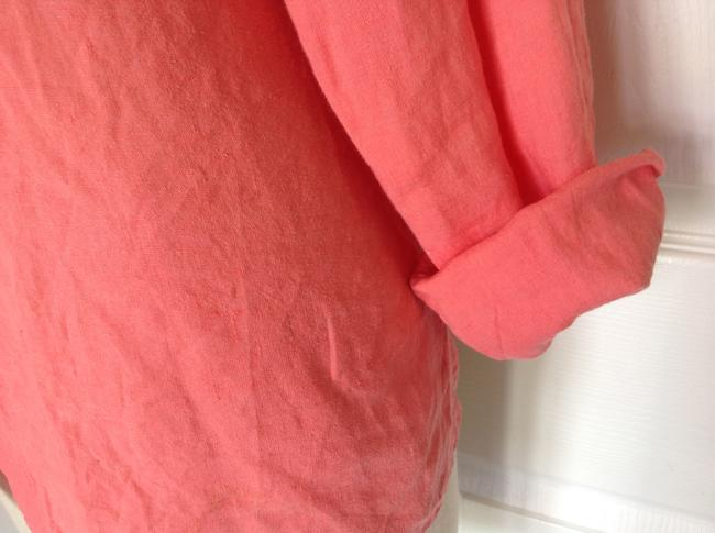 Eileen Fisher Button Down Shirt Coral Image 3