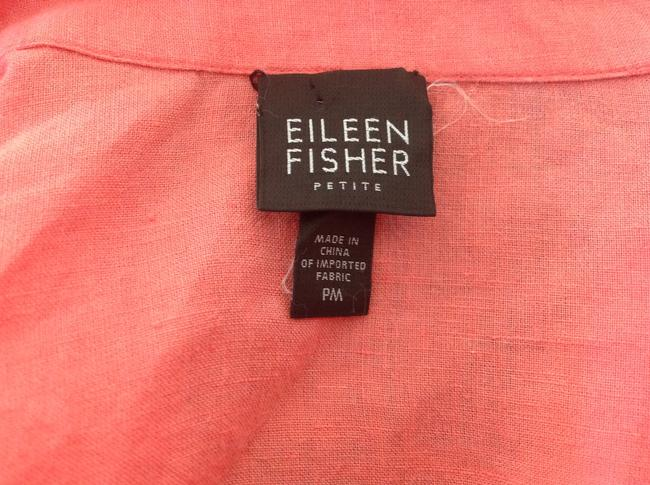 Eileen Fisher Button Down Shirt Coral Image 5