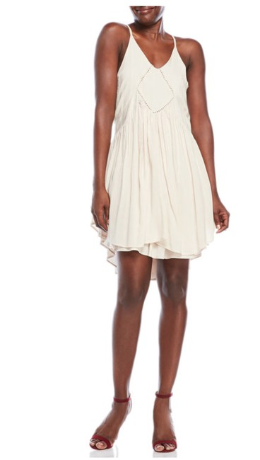 Romeo & Juliet Couture short dress Canvas White Bohemian Sleeveless Lace Trim Racer-back on Tradesy Image 1